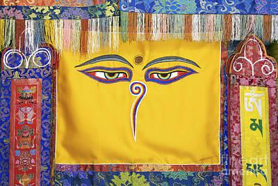 Peaceful Symbols Photograph - Tibetan Eyes by Tim Gainey