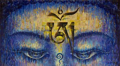 Tibetan Om Print by Vrindavan Das