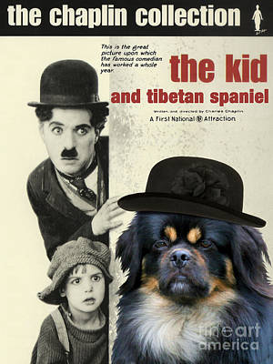 Tibetan Spaniel Art - The Kid Print by Sandra Sij