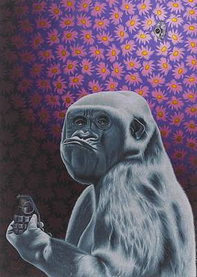 Gorilla Painting - Tick Tick Tick by Stephen Hall