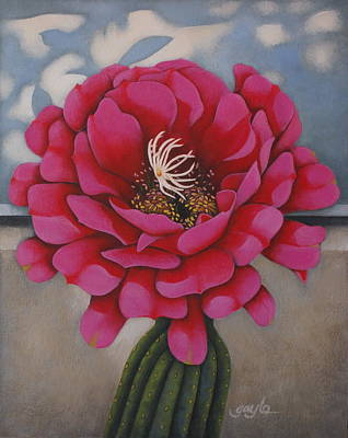 Desert Painting - Tickled Pink by Gayle Faucette Wisbon