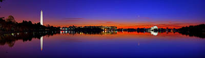 Reflecting Photograph - Tidal Basin Sunrise by Metro DC Photography
