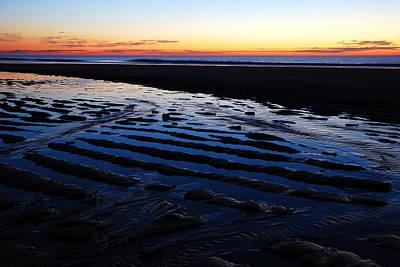 Tidal Ripples At Sunrise Print by James Kirkikis