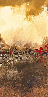 Impasto Oil Painting - Tidal Sunrise Panel 1 by Craig Tinder