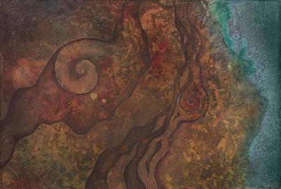 Inktense Painting - Tide Pool 1 by Ellen Starr