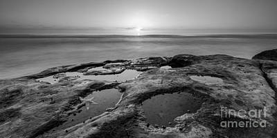 Tide Pool Sunset 16x8 Crop Bw Original by Michael Ver Sprill