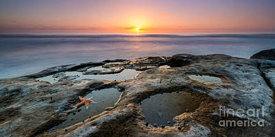 Lajolla Photograph - Tide Pool Sunset 16x8 Crop  by Michael Ver Sprill