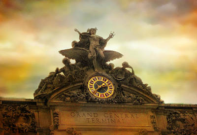 Carving Photograph - Tiffany Clock by Jessica Jenney