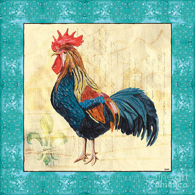 Tiffany Painting - Tiffany Rooster 2 by Debbie DeWitt
