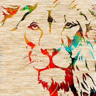 Lion Beauty And Strength Print by Marvin Blaine