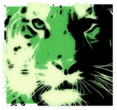 Tiger Green Print by Tilly Williams