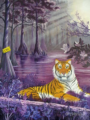 Tiger Woods Painting - Tiger In The Swamp by Theon Guillory