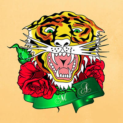 Tiger L Print by Mark Ashkenazi