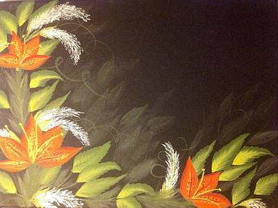 Vary Painting - Tiger Lilies by Karen Pasquariello