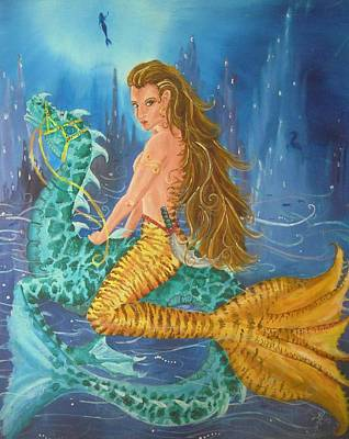 Atlantis Painting - Tiger Lily Tails by Nicole Angell