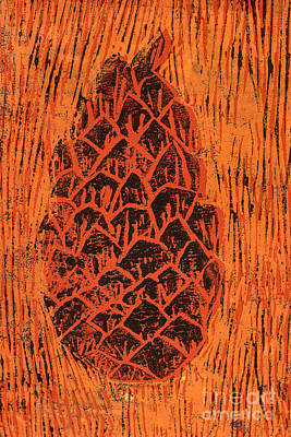 Tiger Pine Cone Print by Amanda And Christopher Elwell