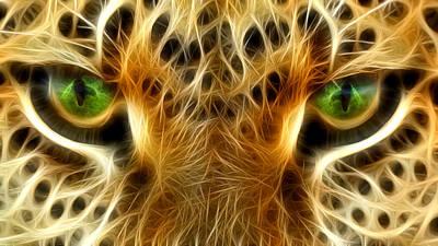 Tiger Portrait  Print by Mark Ashkenazi