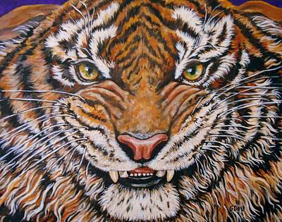 Growling Painting - Tiger by Sherry Dole