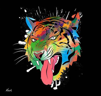 Tiger Vector  Print by Mark Ashkenazi