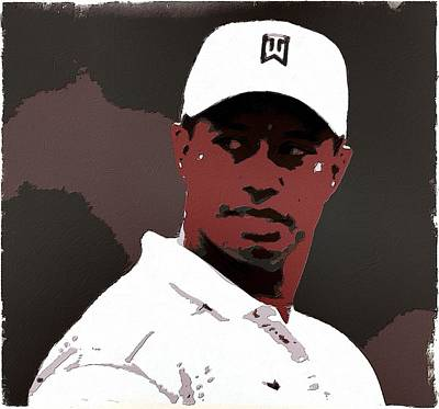 Golf Painting - Tiger Woods Poster Art by Florian Rodarte