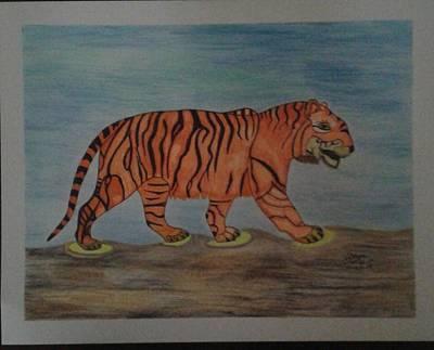 Blending Drawing - Tiger by Yamilet Salebe