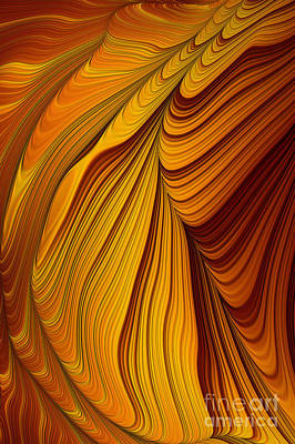 Flame Light Digital Art - Tiger's Eye Abstract by John Edwards