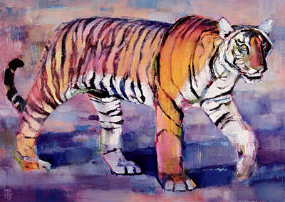India Wildlife Painting - Tigress by Mark Adlington