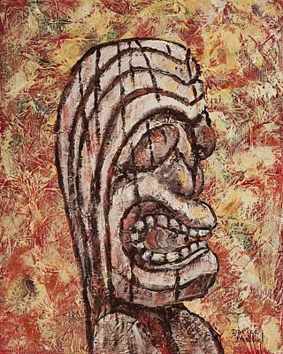 Tiki God Print by Darice Machel McGuire