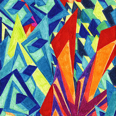 Abstract Painting - Tile 12 - Blades In The Sky by Sean Corcoran