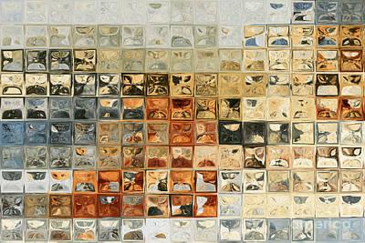 Earthtone Painting - Tile Art 14 2013. Modern Mosaic Tile Art Painting by Mark Lawrence