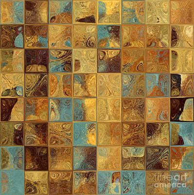 Art Tiles Painting - Tile Art 16 2013. Modern Mosaic Tile Art Painting by Mark Lawrence