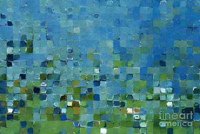 Limited Edition Painting - Tile Art 7 2013. Modern Mosaic Tile Art Painting by Mark Lawrence