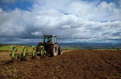 Tillage, Tractor Preparing Field Print by Panoramic Images