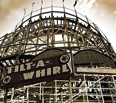 Architecture Photograph - Tilt-a-whirl by Larry Butterworth