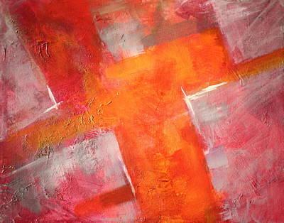 Tangerines Painting - Tilt by Nancy Merkle