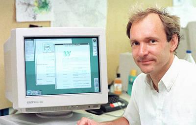 Tim Berners-lee Print by Cern