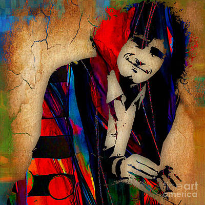 Musician Mixed Media - Tim Buckley Collection by Marvin Blaine