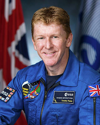 Tim Peake Print by Robert Markowitz/nasa