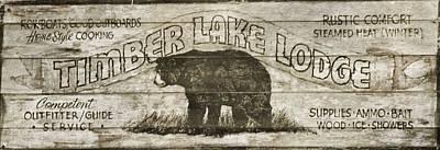 Timber Lake Lodge Print by Dan Sproul