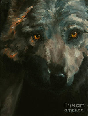 Wolves Painting - Timber Wolf by Lisa Phillips Owens