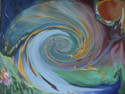 Painting - Time Entry by Virginia Bond