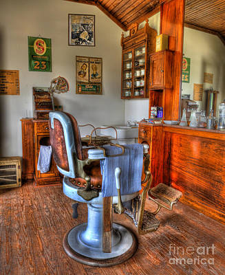 Barberchair Photograph - Time For A Cut And Shave II - Barber by Lee Dos Santos