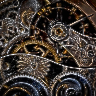 Time Machine - Square Original by Eduard Moldoveanu