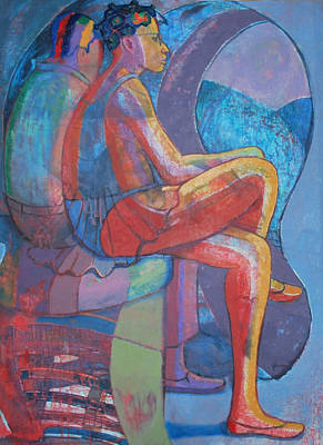 Jamaican Art Painting - Time Passes-the Futurists 11 by John Powell