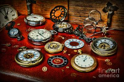 Watchmaker Photograph - Time - Pocket Watches  by Paul Ward
