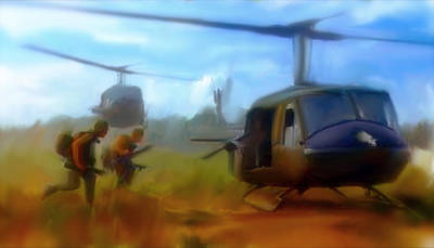 American Soldier Painting - Time Sacrificed II Vietnam Veterans  by Iconic Images Art Gallery David Pucciarelli