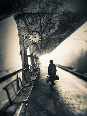 Duotone Photograph - Time by Silvijo Selman