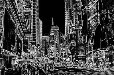 Time Square Original by Charul Kothari