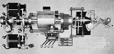 Time Standardization Apparatus, 1913 Print by Spl