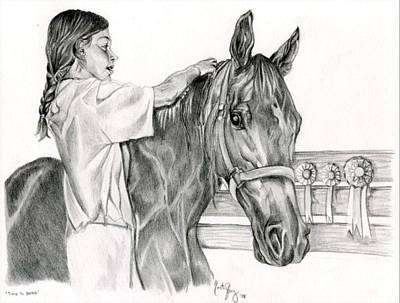 Plaiting Drawing - Time To Braid by Kirsten Slaney